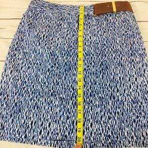 Michael Kors Skirts - Michael Kors Belted A-Line Blue Patterned Skirt.
